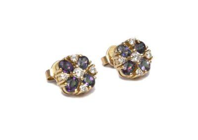 kozak diamonds - kolczyki z brylantami oraz granatami