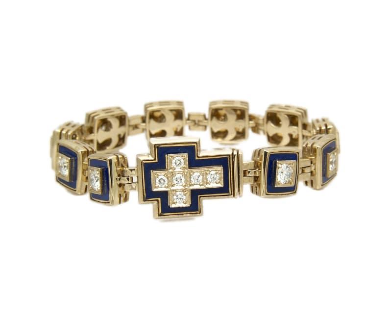 kozak diamonds złota bransoletka